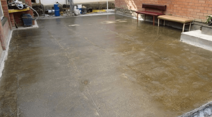 Обеспылить пол из бетона