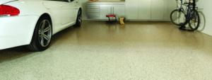 Polyurethane floor in the garage