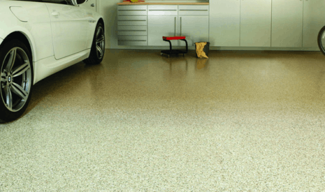 Polyurethane floor in the garage