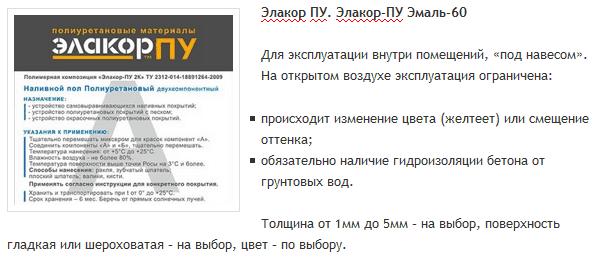 Элакор ПУ. Элакор-ПУ Эмаль-60