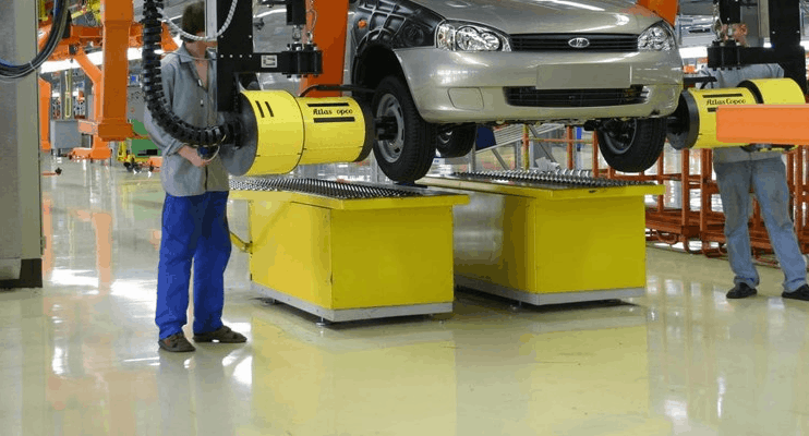 Полы тяжелой промышленности. Полы для предприятий машиностроения и автосборочных производств