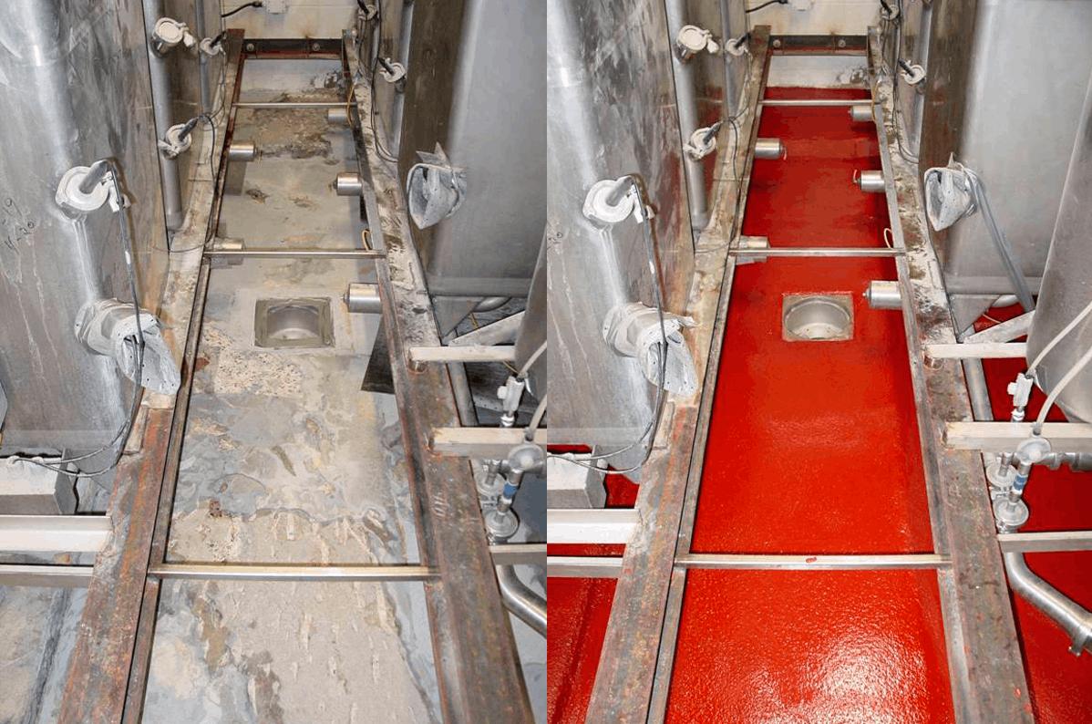 Без пылевые полы для различных областей промышленности(напитки, пекарня, склады)