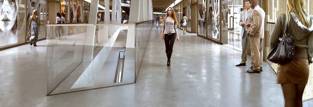 Строительство полов в торговом центре в Воронеже