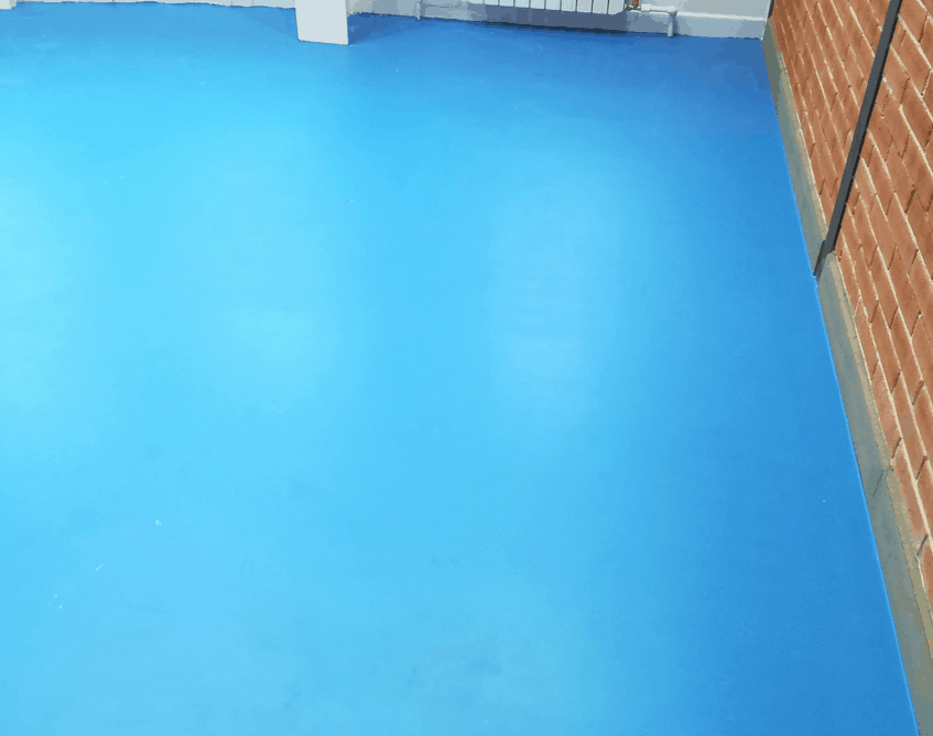 Окраска бетонных полов