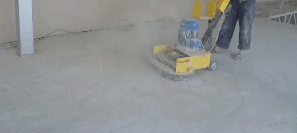 Шлифовка бетонного пола шлифовальной машинкой